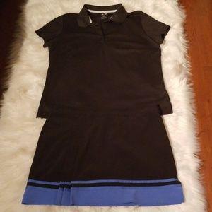 Adidas XL Golf Shirt Izod Golf Skirt sz10